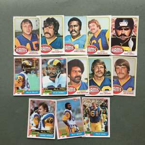 Lot-cartes-NFL-Los-Angeles-Rams-Topps-1976-1980-1981-Football-Americain