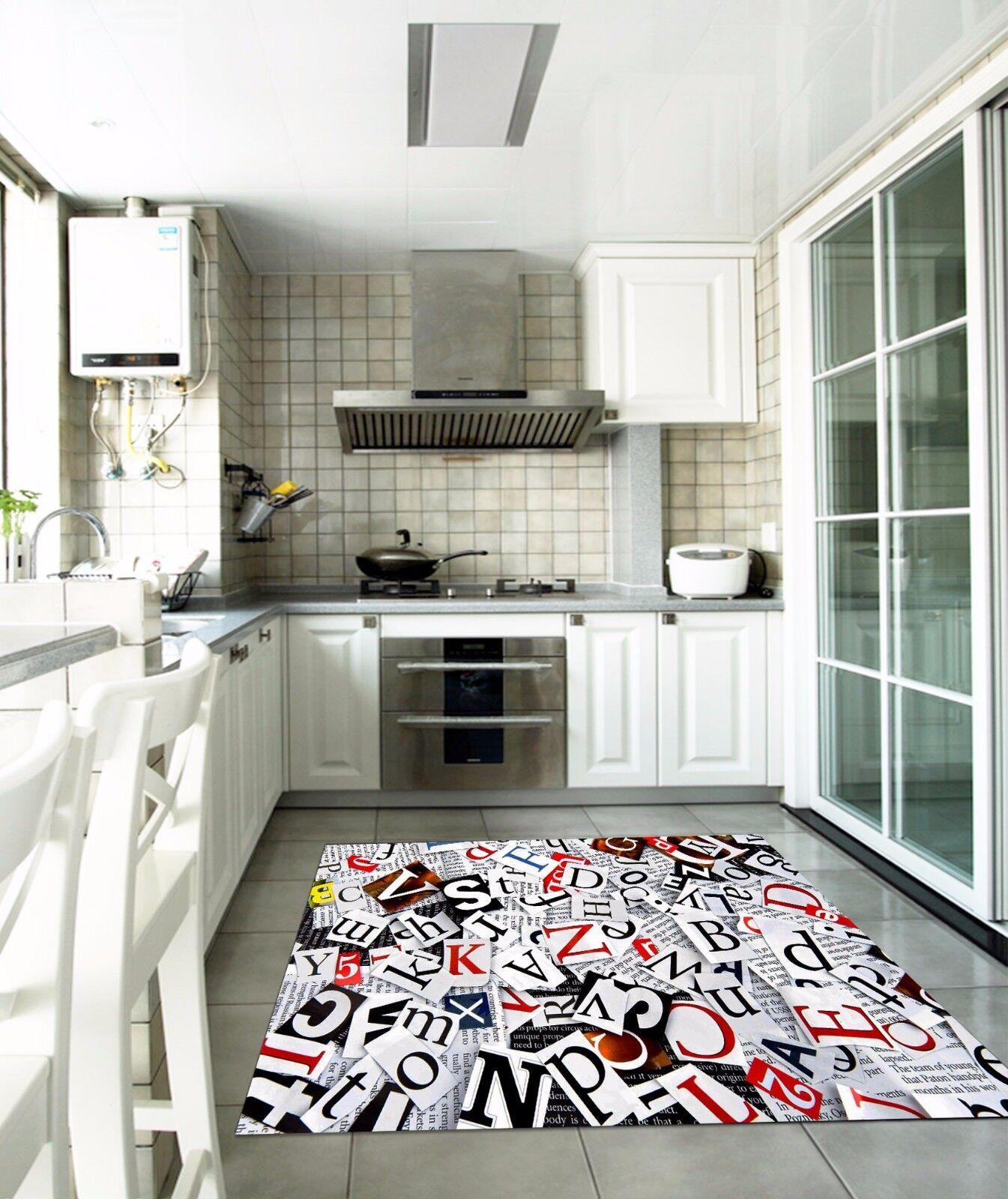 3D Letter News 834 Kitchen Mat Floor Murals Wall Print Wall AJ WALLPAPER UK Kyra