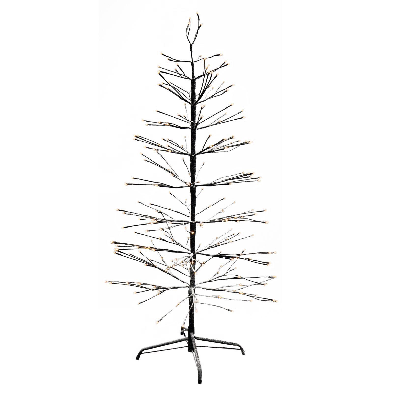 Luxueux neige floqué Brown Brindille Arbre Effet Décoratif Arbre Brindille avec DEL lumières de Noël 50fc6c