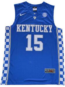 watch 461af 5f110 Details about Demarcus Cousins Jersey Kentucky Wildcats Blue White Sewn  Basketball Jersey