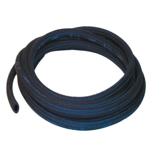 3.5mm Black 6 Metre Rubber Hose With Cotton Overbraid
