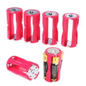 Portable-4PCS-4AAA-to-C-Size-Parallel-Battery-Convertor-Adapter-Holder-Cases-Box