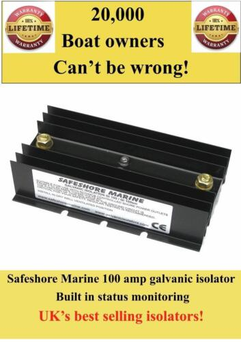Boat/yacht galvanic isolator 100 amps built in status monitor lifetime warranty!