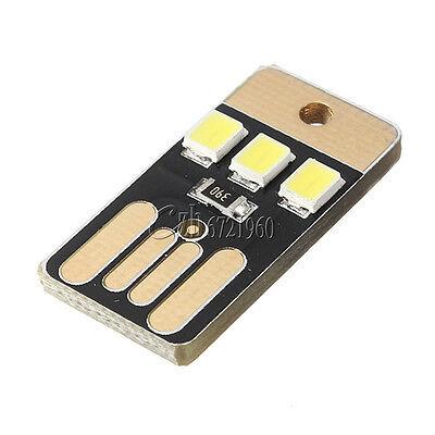 5PCS Card Lamp Bulb Led Keychain Portable USB Power White Mini LED Night Light