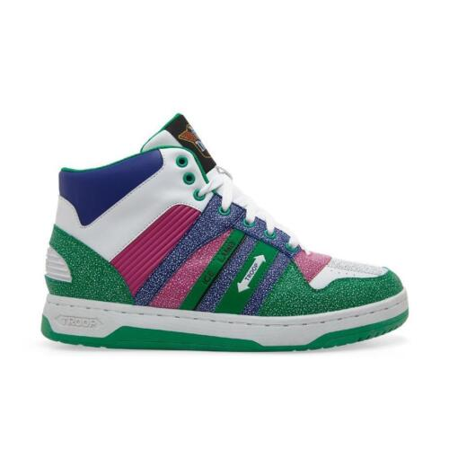 NEW TROOP ICE LAMB LIMITED EDITION OLD SCHOOL GREEN WHITE PURPLE HI TOP SNEAKERS