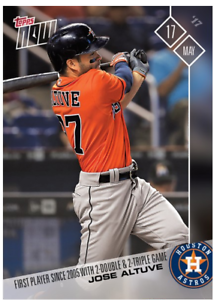 2017 Topps Now #158 FIRST PLAYER 2005 WITH 2 DOUBLE 2 TRIPLE JOSE ALTUVE