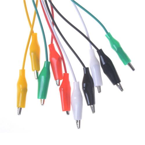 10 un.//Lote De Doble Extremo Puntas De Prueba Cocodrilo Clip Jumper Cable RS Roach