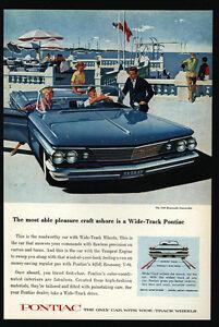 Image Is Loading 1960 Blue Pontiac Bonneville Convertible Car Wide Track