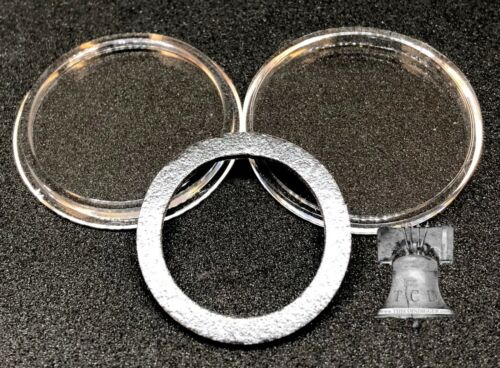 5 Air-tite Coin Holder Capsule Model H Black Ring 26mm Sacagawea Presidential