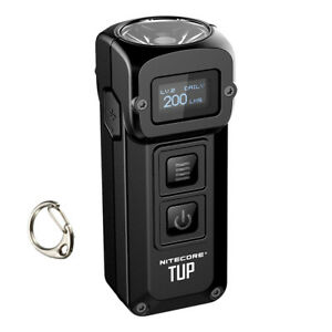 NITECORE-TUP-1000-lm-Black-Rechargeable-Everyday-Carry-Keychain-Flashlight