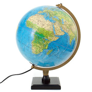 Bradley blue illuminated desktop globe world globe dual mapping image is loading bradley blue illuminated desktop globe world globe dual gumiabroncs Choice Image