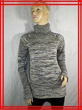 94 € COP.COPINE Taille L 40 42 USA 8  pull col roulé gris CHARDON pullover