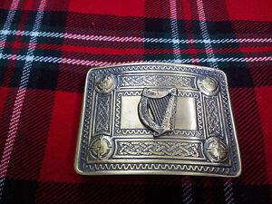 Men/'s Irish Belt Buckle Antique Finish Celtic Harp//Kilt Belt Bcukle Irish Harps