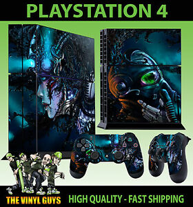 Devoted Ps4 Skin Cyberpunk Gas Mask Sci Fi Dark Sticker New Faceplates, Decals & Stickers Video Games & Consoles 2 X Pad Decal Vinyl Lay