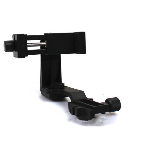 360 Degree Rotating Tactical Adjustable Phone Holder Mount Adapter for 20mm Rail