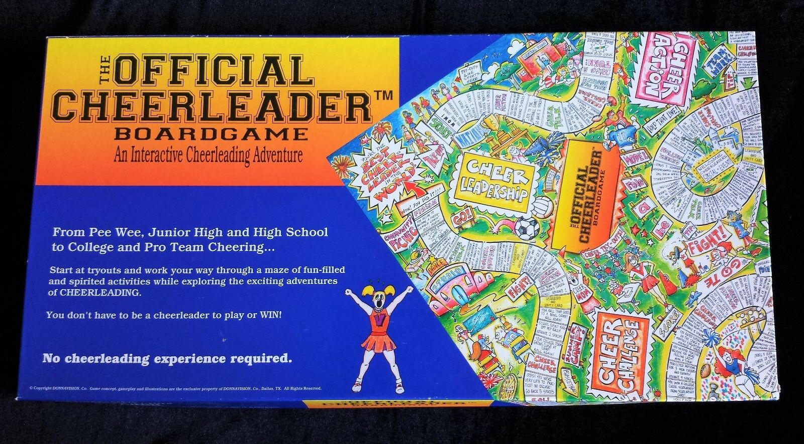 The Official Cheerleader Board Game Complete Gr8 for Cheer Camp & Parties