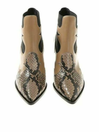 Details about  /Occident Winter New Womens Pointed Toe Serpentine Block Heel Ankle Boots Shoes