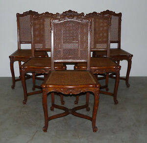 Set 6 Antique French Louis XV XVI Shell Carved Dining ...