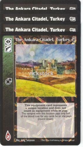 The Ankara Citadel Turkey x4 AH CE Lot A VTES Jyhad