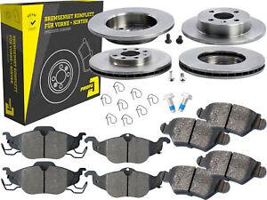 4-Bremsscheiben-Belaege-Vorne-amp-Hinten-Opel-Astra-G-CC-Kasten-Stufenheck