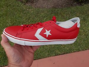 2b19c7ccd2a Converse Prl Leather Vulc Varsity Red Low Ox SHOES MENS size 11.5 ...