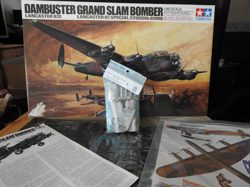 1 48 Tamiya Avro Lancaster Mk.III Dambuster Grand Slam Bomber + engines set