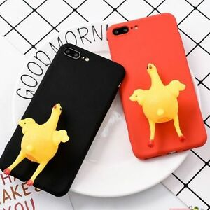 the latest 2c2e9 6d681 Details about Cute 3D Chicken Lay Egg Squishy Animal Phone Case Cover for  iPhone 6/6S/7/7Plus