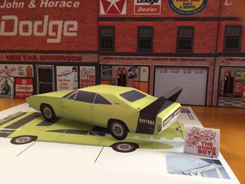 Papercraft 1969 Dodge Charger Daytona paper model car EZU-make Plymouth Chrysler