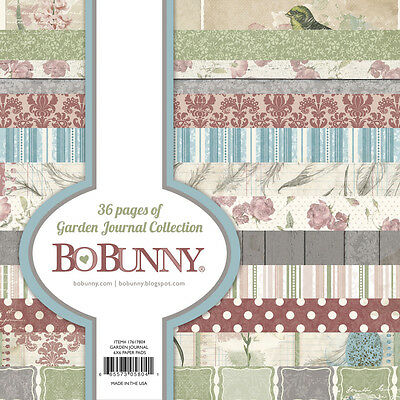 36 Scrapbooking Papier 15,2x15,2 cm BoBunny Motive Garden Journal Collection