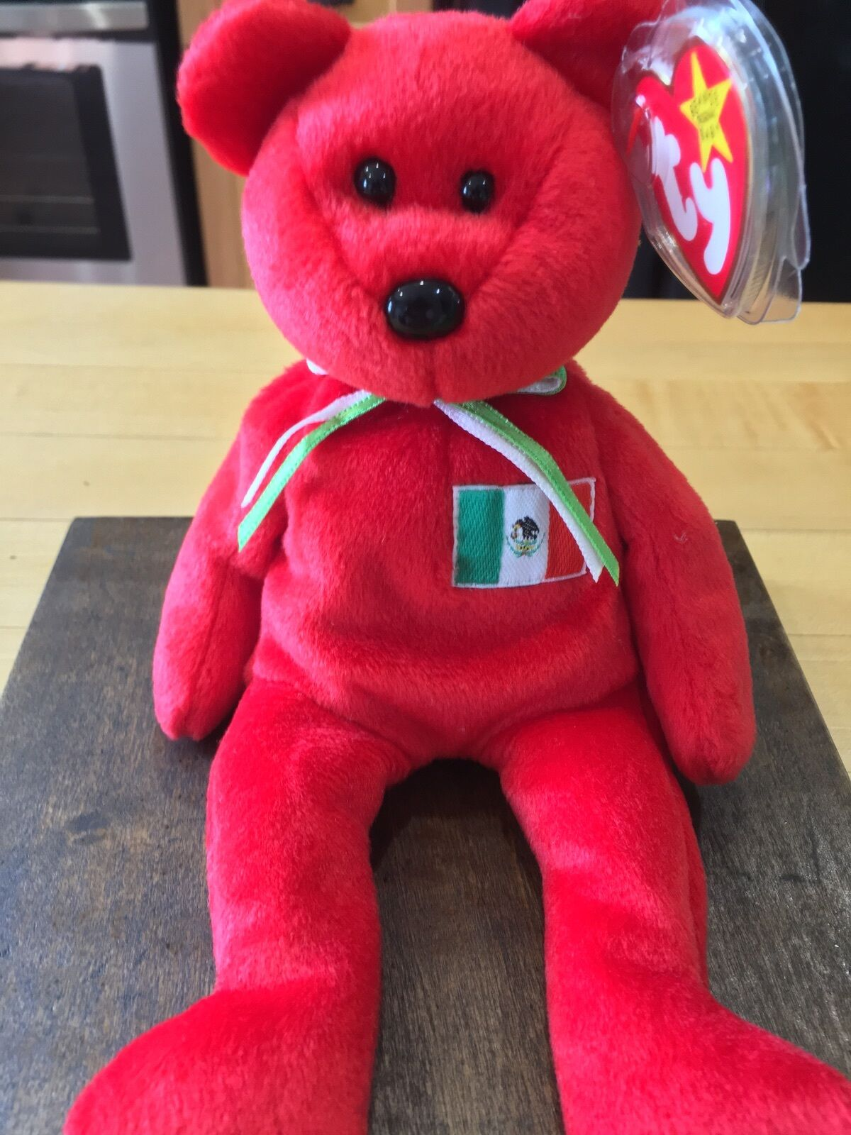 Osito  the Mexican Bear TY Beanie Baby - No number stamp on tush tag