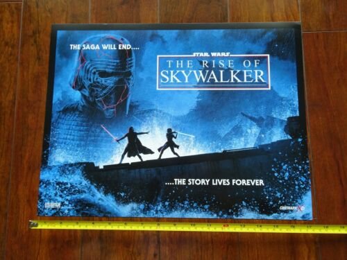 """Star Wars The Rise of Skywalker Lucasfilm and Cinemark Promo Poster 17/"""" x 13/"""""""