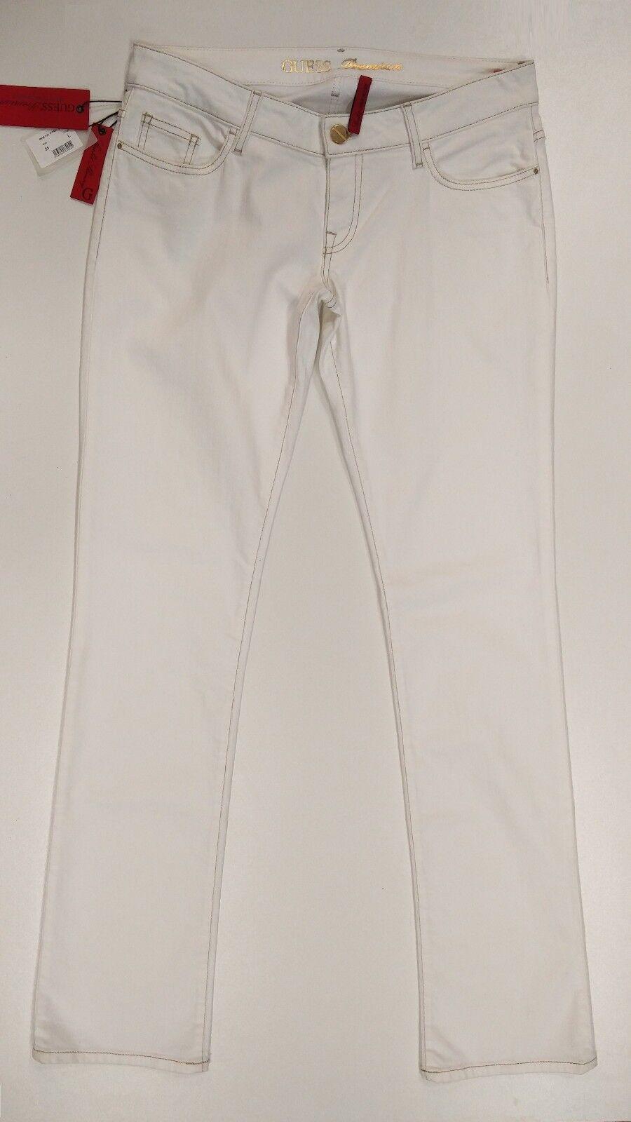 GUESS JEANS PREMIUN women GWA125-ET401 Jeans Bianco   White Skinny Low Rise