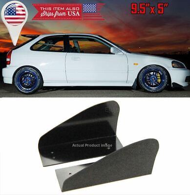 ABS Universal Front Bumper Lip Splitters Black Winglet Blade Spoiler For Ford
