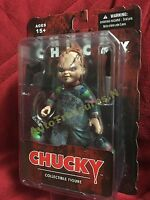 Child's Play Bride Chucky Good Guy Scar 5 Mezco Figure Knife Gun Halloween Doll