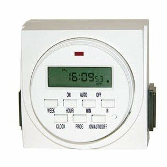 Hydrolux Dual Digital Electric Light Timer 8 On and Off Settings, Outlet Switch