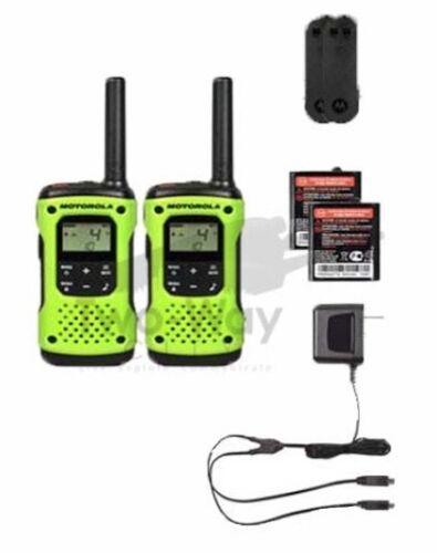 Walkie Talkies Rechargeable Motorola Talkabout T600 Two-Way Radio 2-Pack Set