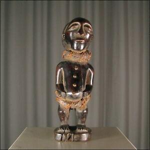 44154) Afrikanische Holz Figur Luba Kongo Afrika KUNST