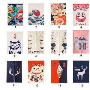 2Pcs-Japanese-Style-Curtain-Door-Hanging-Half-Divide-Long-Kitchen-Room-Decor-US