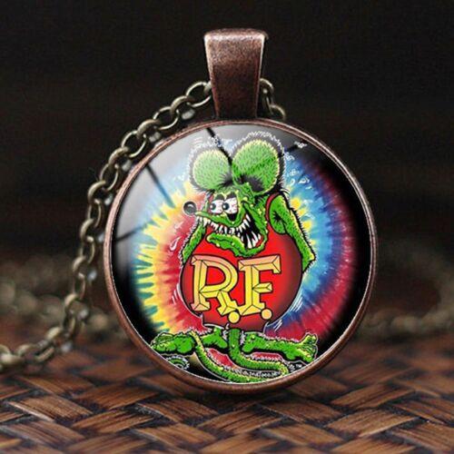 Ed Roth Copper Vintage Rare Rat Fink Time Gem Necklace Legends Big Daddy Metal