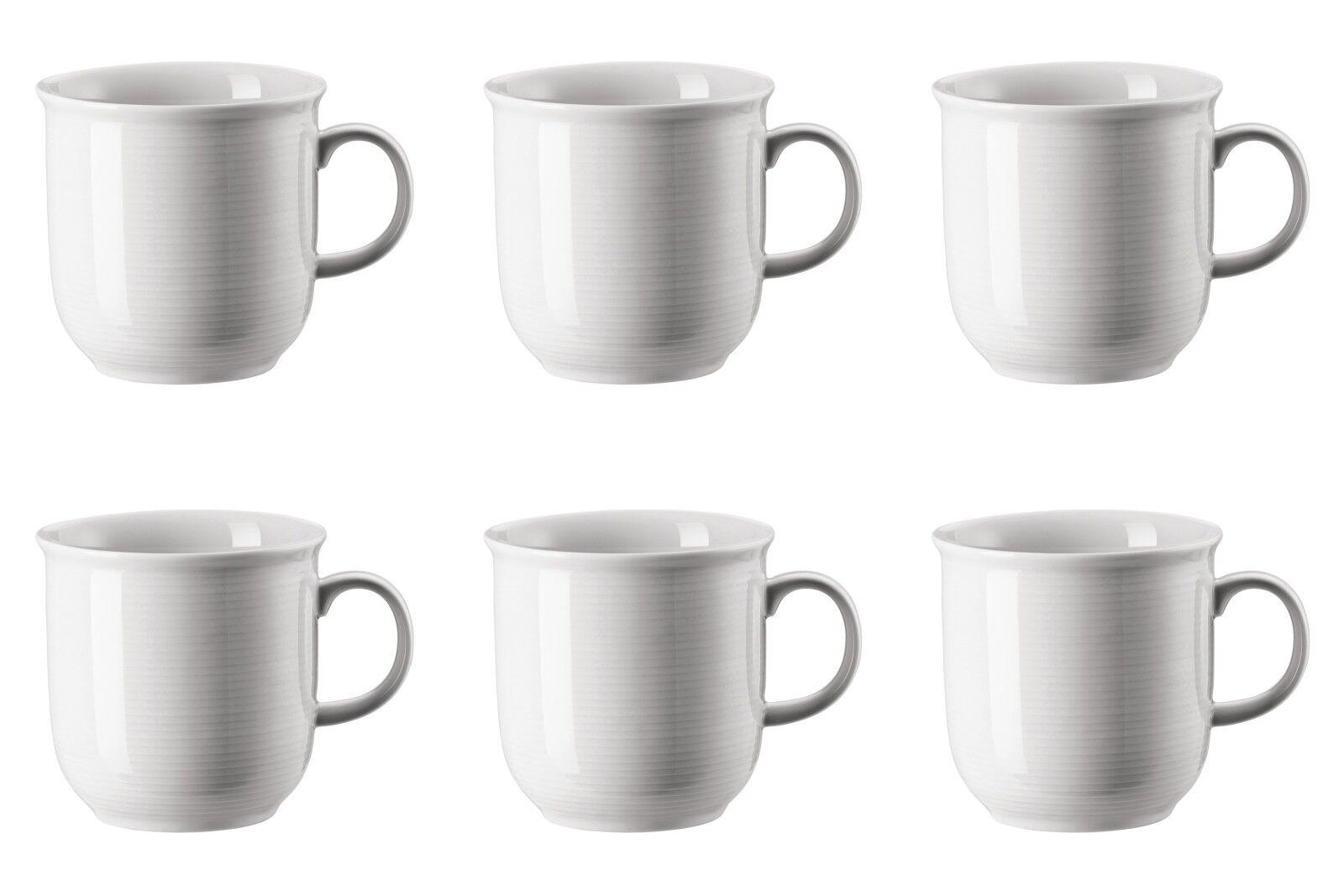 6 x Becher mit Henkel groß - Thomas Trend Weiß - 15571 - 0,36 l - Kaffee Tasse