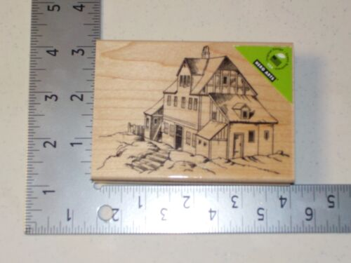 HERO ARTS #K5545 HOUSE WOOD MOUNT RUBBER STAMP NEW A1483