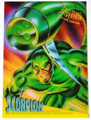 1995 Fleer Ultra Claro Hombre Araña Cromo 10 Juego de Tarjetas veneno clearchrome!