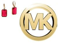 Michael Kors Women's Gold Earings Red Stone Mkj4997