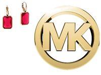 Michael Kors Women's Gold Earings Red Stone Mkj4997