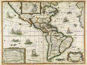 Map Of America Equator.Details About Map Antique Continental America South North Equator Art Print Poster Bb8165
