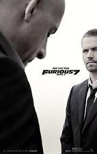 Furious 7 (2015) Movie Poster (24x36) - Paul Walker, Vin Diesel, Statham NEW v2