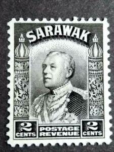 Malaya-Sarawak-1934-Sir-Charles-Vyner-Brooke-2c-Black-1v-MNG