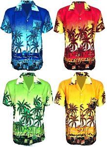New-Mens-hawaiian-Shirt-Dress-Vintage-Aloha-Fancy-Stag-Beach-Shirts-Funky-Tops