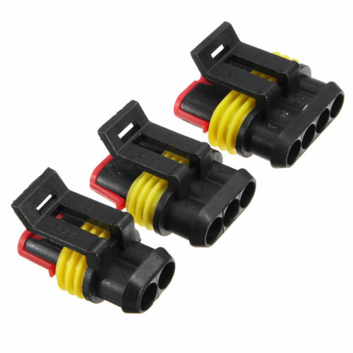 15 Sets Car 2 3 4 Pin Way Waterproof Sealed Electrical Wire Connector Plug 12A