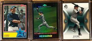 RARE-Ichiro-Lot-3-Topps-039-ed-299-Topps-Chrome-Refractor-Upper-Deck-SP